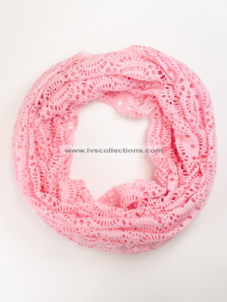 Lvs1012 Lightweight Infinity Scarf With Round Patterns Infinity