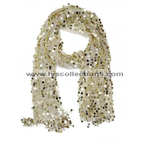 LP60 Round Sequin Scarf