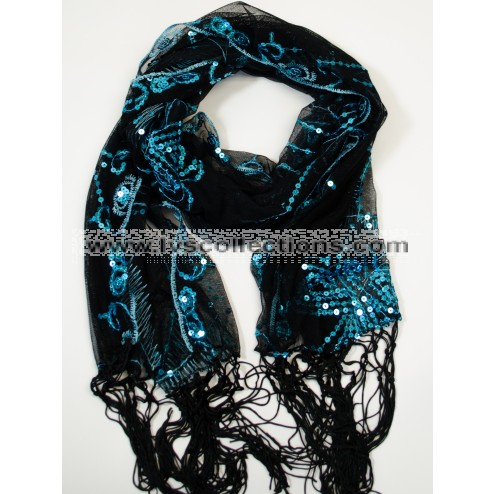 LP81 Sequin Butterfly Scarf