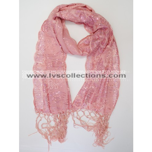 LP65 Sequin Embroidery Scarf