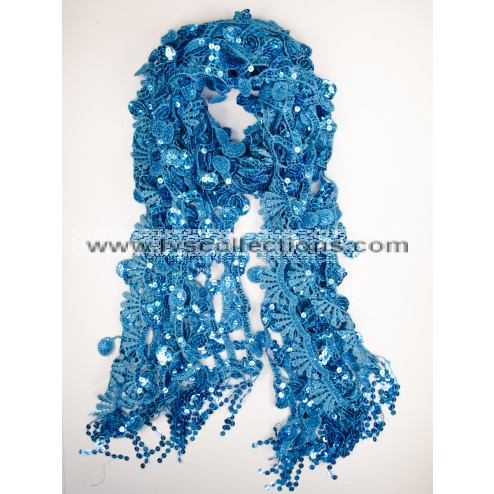 LP73 SEQUIN SQUARE SCARF
