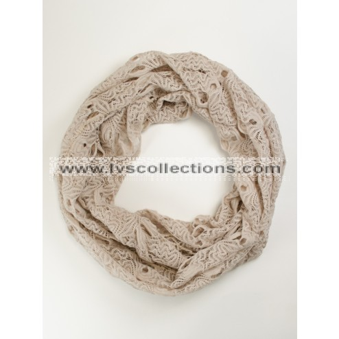 LVS1010 Lightweight Infinity Scarf with Wave Patterns