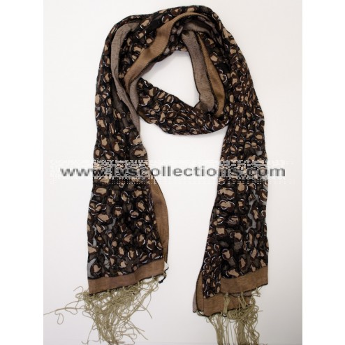 YH18 Translucent Abstract Dot Scarf