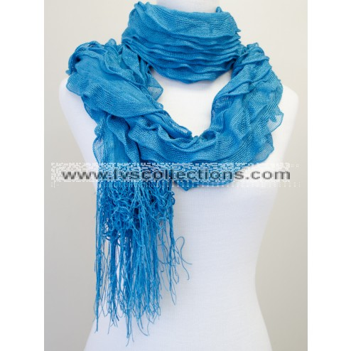 YH50 Solid Color Ruffle Scarf