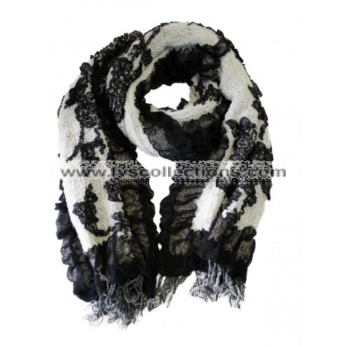 ZJ80 Crinkle Multi-Color Floral scarf (Assorted Colors)