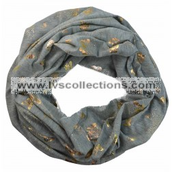LC108 Infinity Scarf with Gold Butterfly