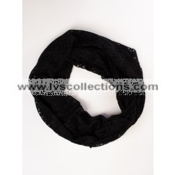 LVS1013 Lightweight Infinity Scarf with Open Squares