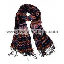 LVS124 Dots and Waves Crinkle Scarf