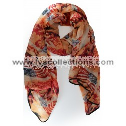 LVS1730 Horse with American Flag Scarf