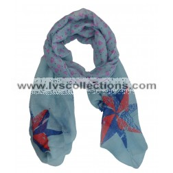 SAG008 Viscose Anchor & Compass Print Scarf (Assorted)