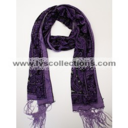 YH09 Translucent Small Paisley Scarf