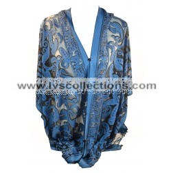 YH09P Translucent Small Paisley Poncho