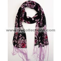 YH21 Translucent Floral Scarf