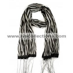 YH23 Zebra Print Translucent Scarf