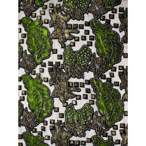 LC14 Velvet Leaf Pattern Scarf