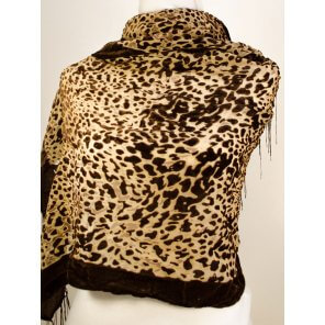 LC19 Velvet Abstract Pattern Scarf