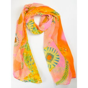 LC501 Lightweight Abstract Pattern Scarf (Assorted Colors)