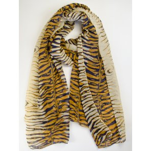LC503 Lightweight Tiger Print Scarf (Assorted Colors)