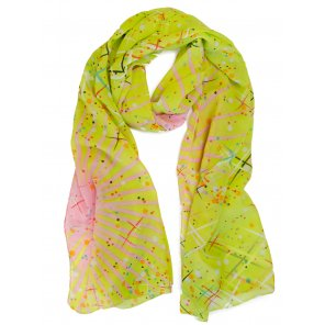 LC512 Lightweight Abstract Pattern Scarf (Assorted Colors)