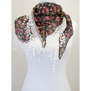 CH06 Triangle Floral Scarf