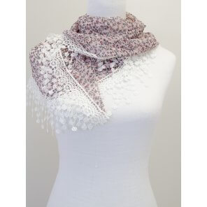 CH11 Triangle Floral Scarf