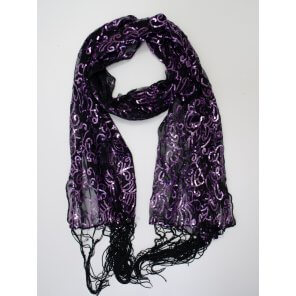 LP67 Sequin Embroidery Scarf