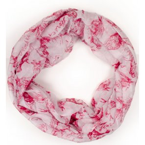 ZY13 Infinity Horse Print Scarf