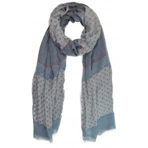 LVS128 Lightweight Stripe & Polka Dots Scarf - Assorted
